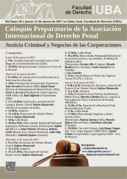 Coloquio Preparatorio de la Asociación Internacional de Derecho Penal