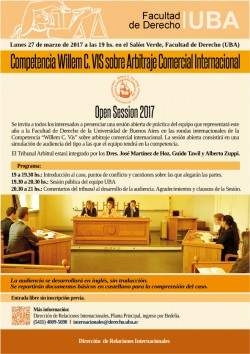 Competencia Willem C. VIS sobre Arbitraje Comercial Internacional - Open Session 2017