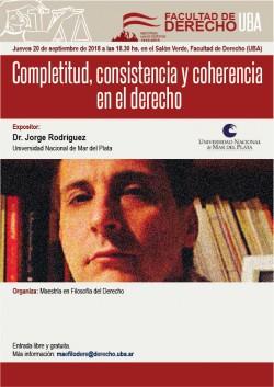 Completitud, consistencia y coherencia en el derecho