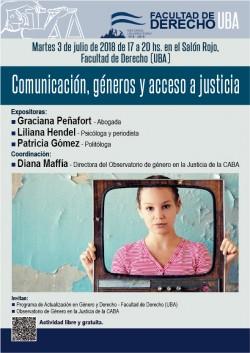 Comunicación, géneros y acceso a justicia