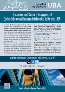 Concurso de Alegatos del Centro de Derechos Humanos de la Facultad de Derecho (UBA)