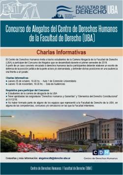 Concurso de alegatos del Centro de Derechos Humanos