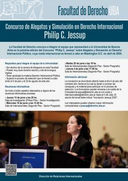 Concurso de Alegatos y Simulación en Derecho Internacional Philip C. Jessup
