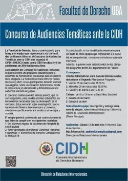 Concurso de Audiencias Temáticas ante la CIDH