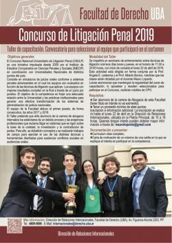 Concurso de Litigación Penal 2019: taller de capacitación para seleccionar al equipo
