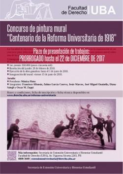 """Concurso de pintura mural """"Centenario de la Reforma Universitaria de 1918"""""""