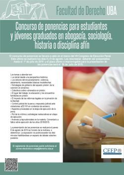 Concurso de ponencias para estudiantes y jóvenes graduados en abogacía, sociología, historia o disciplina afín