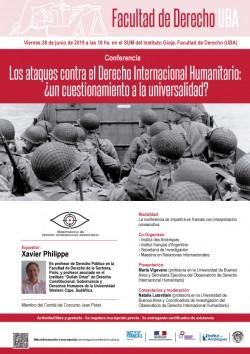 Conferencia - Los ataques contra el Derecho Internacional Humanitario:  Â¿un cuestionamiento a la universalidad?