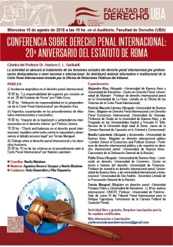 Conferencia sobre Derecho Penal Internacional: 20º aniversario del Estatuto de Roma