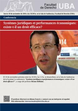 """Conferencia """"Systèmes juridiques et performances économiques: existe-t-il un droit efficace?"""