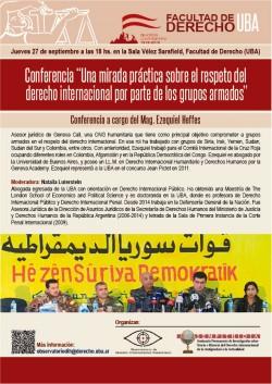 Conferencia  - Una mirada práctica sobre el respeto del derecho internacional por parte de los grupos armados