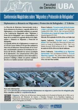 """Conferencias Magistrales sobre """"Migrantes y Protección de Refugiados"""""""