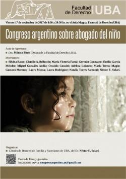 Congreso argentino sobre abogado del niño