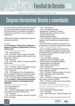 Congreso internacional: Derecho y comunidades