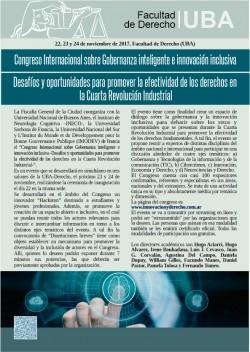 Congreso Internacional sobre Gobernanza inteligente e innovación inclusiva -Desafíos y oportunidades para promover la efectividad de los derechos en la Cuarta Revolución Industrial