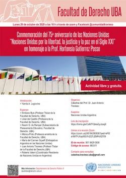 Conmemoración del 75º aniversario de las Naciones Unidas