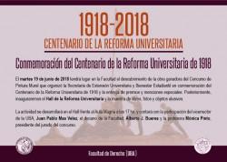 Conmemoración del Centenario de la Reforma Universitaria de 1918