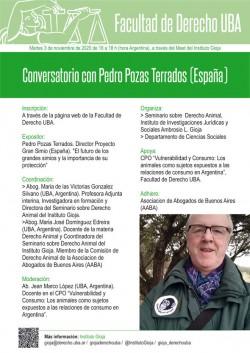 Conversatorio con Pedro Pozas Terrados (España)
