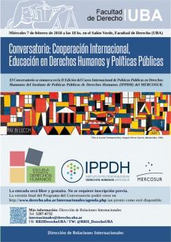 Conversatorio: Cooperación Internacional, Educación en Derechos Humanos y Políticas Públicas