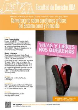 Conversatorio sobre cuestiones críticas del Sistema penal y Femicidio