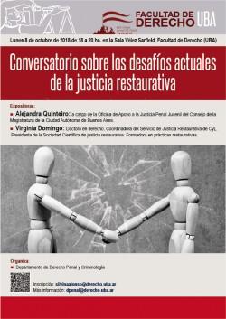 Conversatorio sobre los desafíos actuales de la justicia restaurativa
