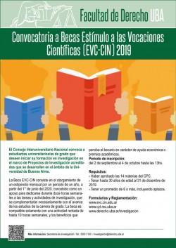 Convocatoria a Becas Estímulo a las Vocaciones Científicas (EVC-CIN) 2019