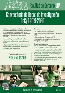 Convocatoria abierta Becas DeCyT 2019-2020