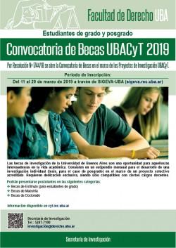 Convocatoria de Becas UBACyT 2019