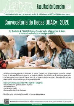 Convocatoria de Becas UBACyT 2020