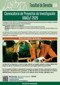 Convocatoria de Proyectos de Investigación UBACyT 2020