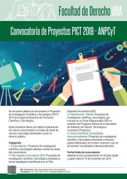 Convocatoria de Proyectos PICT 2019 - ANPCyT