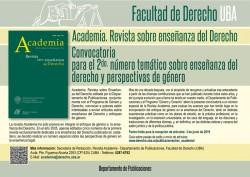 Convocatoria para el 2do. número temático sobre enseñanza del derecho y perspectivas de género