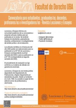 Convocatoria para estudiantes, graduados/as, docentes, profesores/as e investigadores/as - Revista Lecciones y Ensayos
