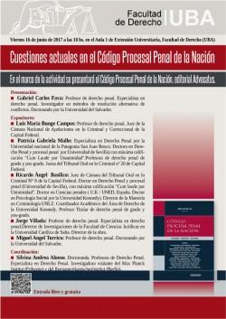 Cuestiones actuales en el Código Procesal Penal de la Nación