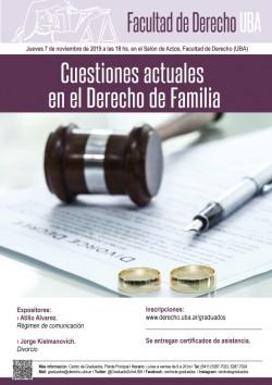 Cuestiones actuales en el Derecho de Familia