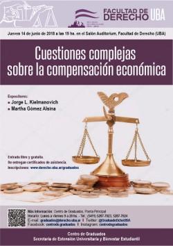 Cuestiones complejas sobre la compensación económica