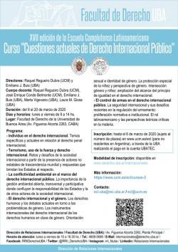 """Curso """"Cuestiones actuales de Derecho Internacional Público"""""""