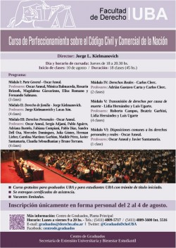 Curso de Perfeccionamiento sobre el Código Civil y Comercial de la Nación