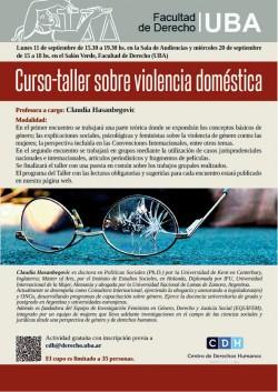 Curso-taller sobre violencia doméstica