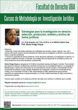 Cursos de Metodología en Investigación Jurídica