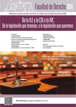 De la ILE y la ESI a la IVE. De la legislación que tenemos, a la legislación que queremos