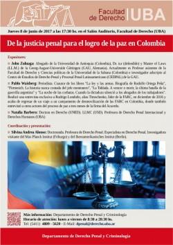 De la justicia penal para el logro de la paz en Colombia