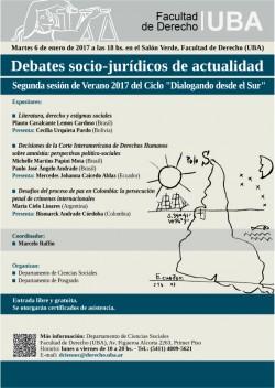Debates socio-jurídicos de actualidad