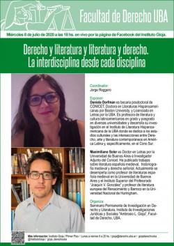 Derecho y literatura y literatura y derecho. La interdisciplina desde cada disciplina