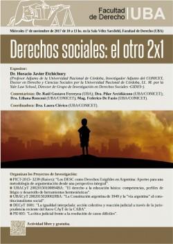 Derechos sociales: el otro 2x1