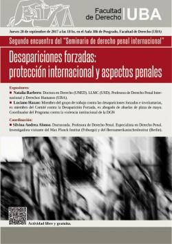 Desapariciones forzadas: protección internacional y aspectos penales