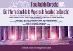 Día Internacional de la Mujer en la Facultad de Derecho