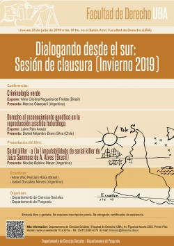Dialogando desde el Sur. Sesión de clausura (Invierno 2019)