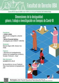 Dimensiones de la desigualdad: género, trabajo e investigación en tiempos de Covid-19
