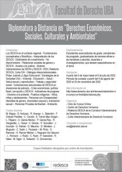 """Diplomatura a Distancia en """"Derechos Económicos, Sociales, Culturales y Ambientales"""""""